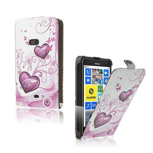 Festival Pinkit Sydämet Nokia Lumia 625 Nahkakotelo