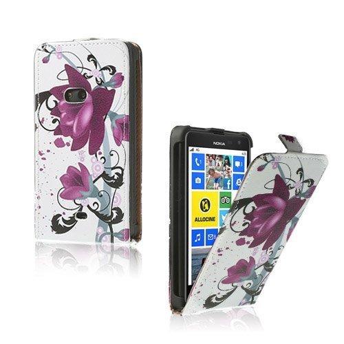 Festival Purppurat Kukat Nokia Lumia 625 Nahkakotelo