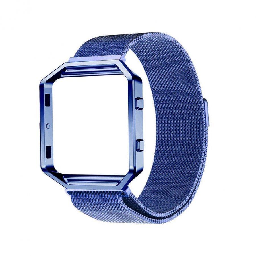 Fitbit Baze Magneettinen Ruostumaton Teräs Ranneke Kehys Sininen