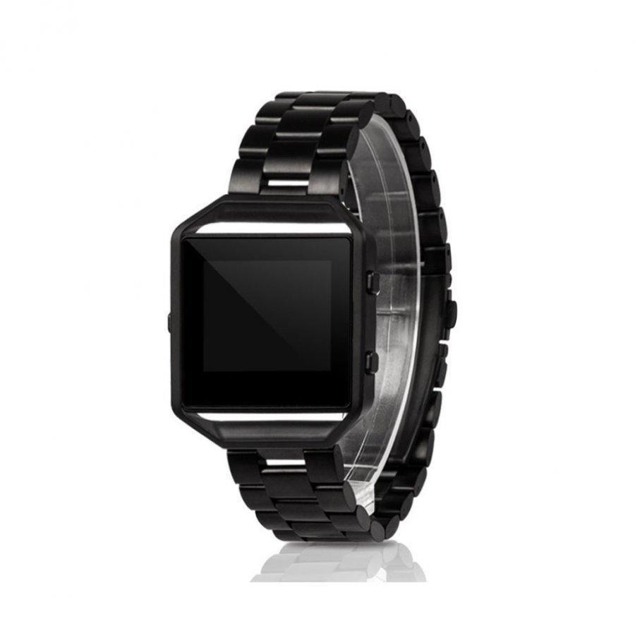 Fitbit Blaze Ruostumaton Teräs Ranneke Metallikehyksellä Musta