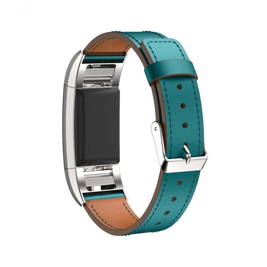 Fitbit Charge 2 Aito Nahka Ranneke Vaaleansininen