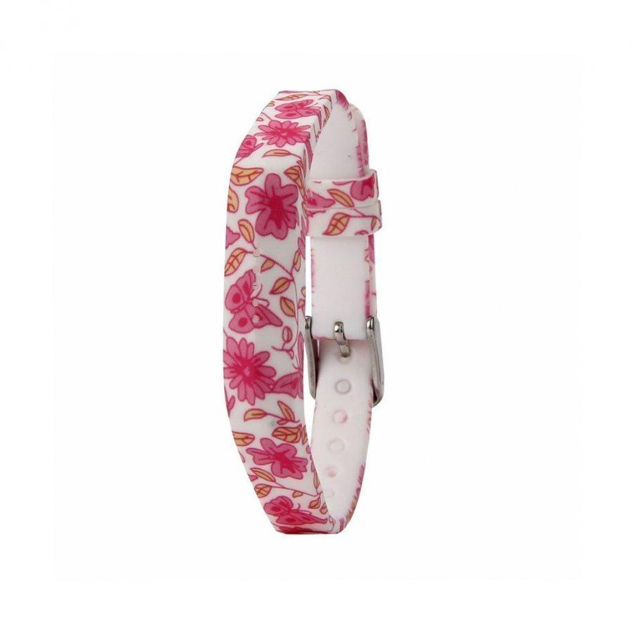 Fitbit Flex 2 Joustava Silikoni Ranneke Kuuma Pinkki Kukat Ja Perhoset