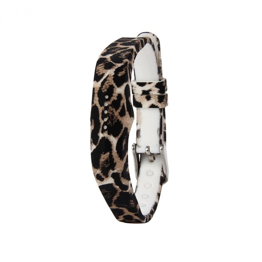 Fitbit Flex 2 Joustava Silikoni Ranneke Leopardi Kuvio