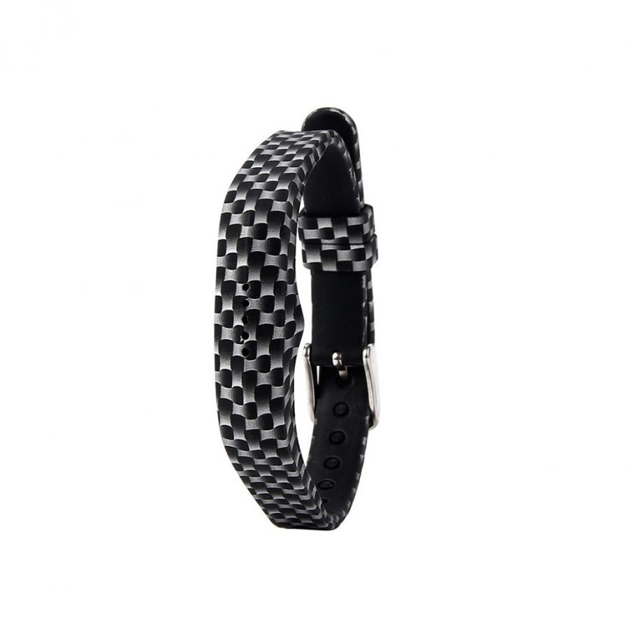 Fitbit Flex 2 Joustava Silikoni Ranneke Musta Ja Valkoinen Kuvio