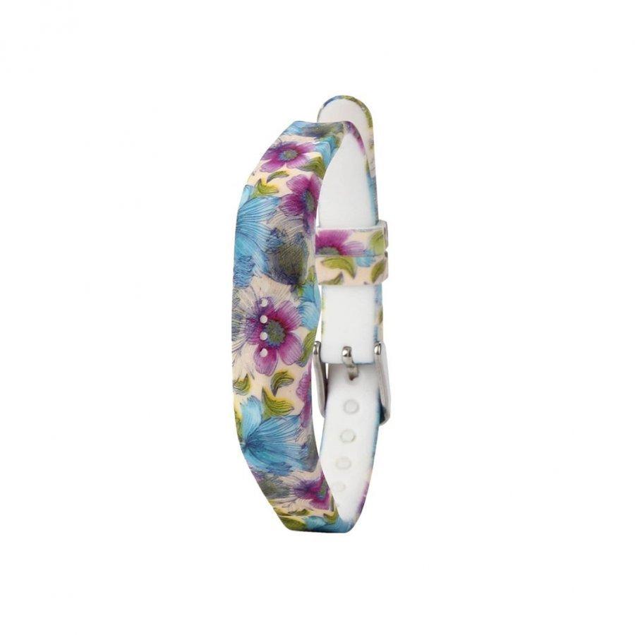 Fitbit Flex 2 Joustava Silikoni Ranneke Sinisiä Kukkia