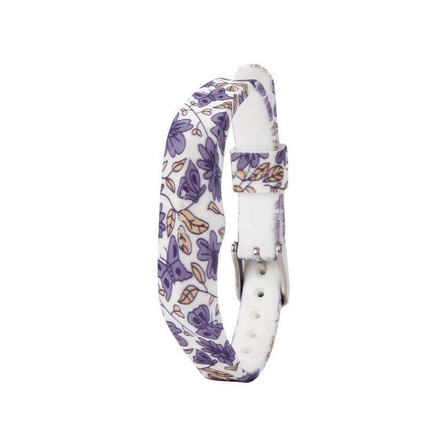 Fitbit Flex 2 Joustava Silikoni Ranneke Violetit Kukat Ja Perhoset