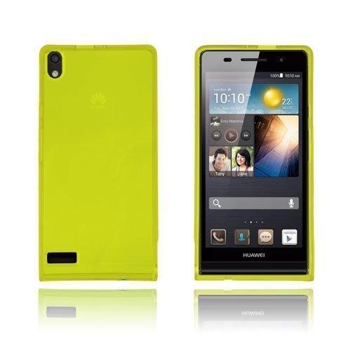 Flexcase Keltainen Huawei Ascend P6 Suojakuori
