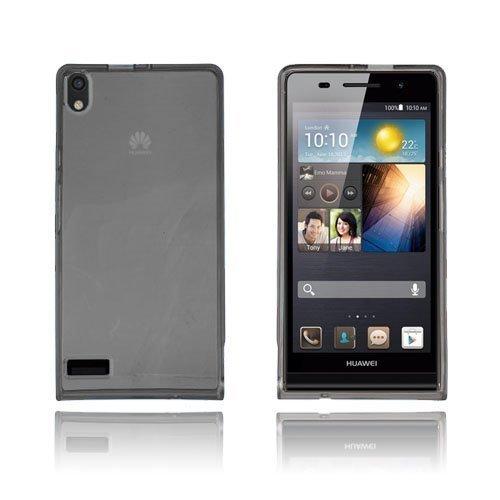 Flexcase Musta Huawei Ascend P6 Suojakuori