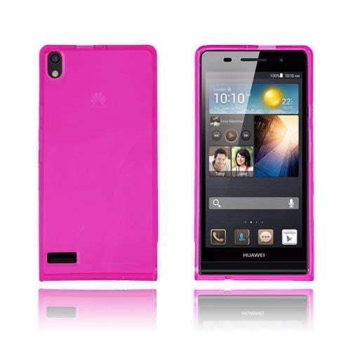 Flexcase Pinkki Huawei Ascend P6 Suojakuori