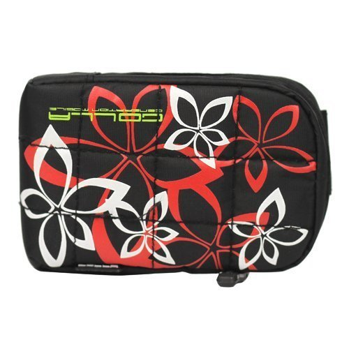 Flower City Bag Musta Kännykkäpussi
