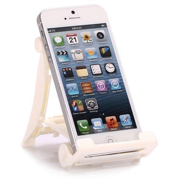 Foldout Älypuhelin / Tablet Standi Valkoinen