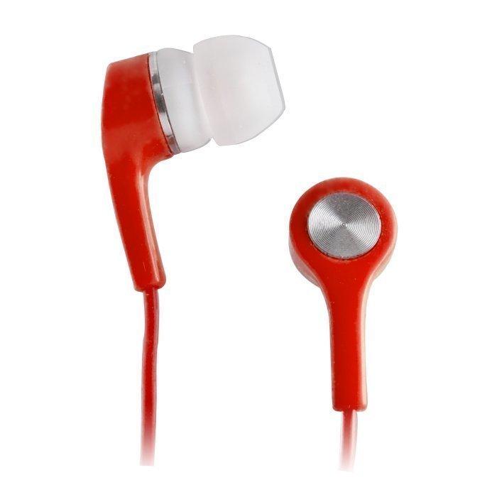 Forever Apple iPhone ja Nokia Lumia yhteensopivat kuulokkeet mikrofonilla Punainen