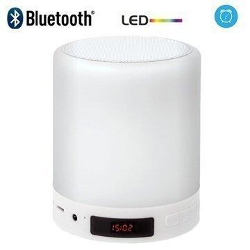 Forever BS-700 Bluetooth-Kaiutin & RGB LED-Lamppu jossa Herätyskello