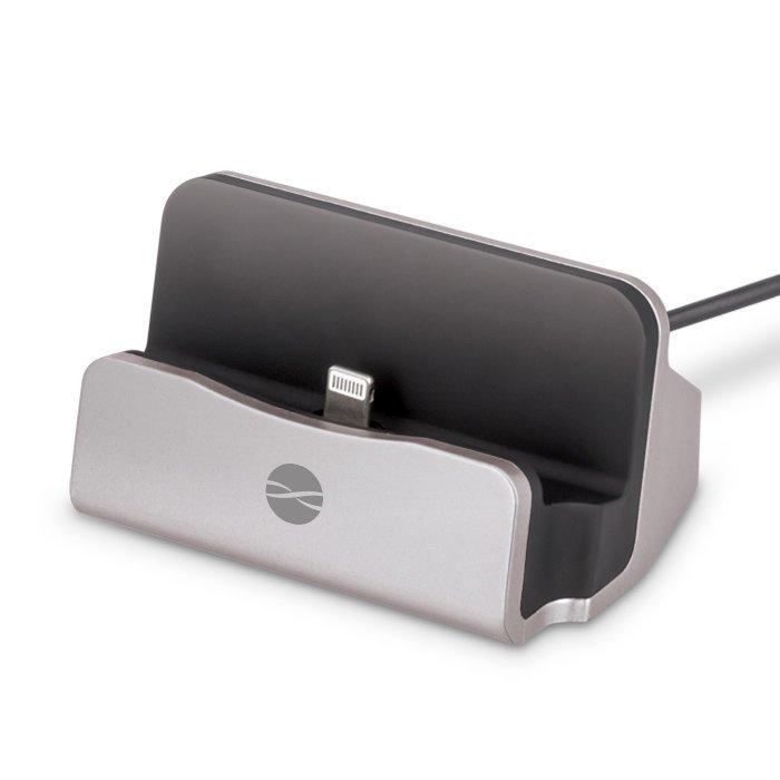 Forever DS-01 Telakka iPhonelle & iPadille Lightning liitännällä Hopea