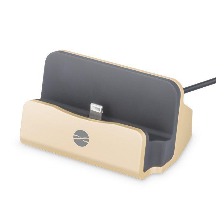 Forever DS-01 Telakka iPhonelle & iPadille Lightning liitännällä Kulta