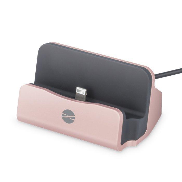 Forever DS-01 Telakka iPhonelle & iPadille Lightning liitännällä Ruusukulta