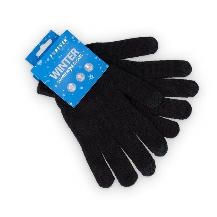 Forever Lämpimät sormikkaat kosketusnäytöille musta