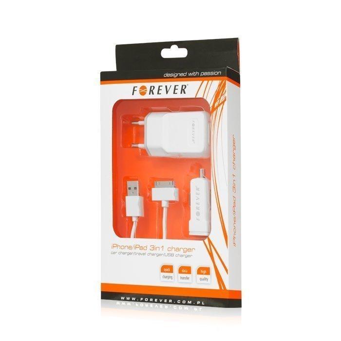 Forever iPhone 3/4 Dock Laturisarja autoon ja kotiin