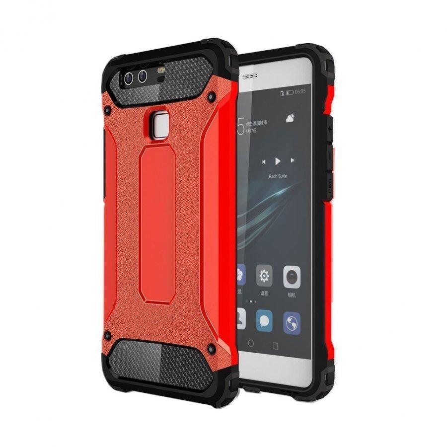 Frederik Panssari Pc + Tpu Suojakuori Huawei P9 Puhelimelle Punainen