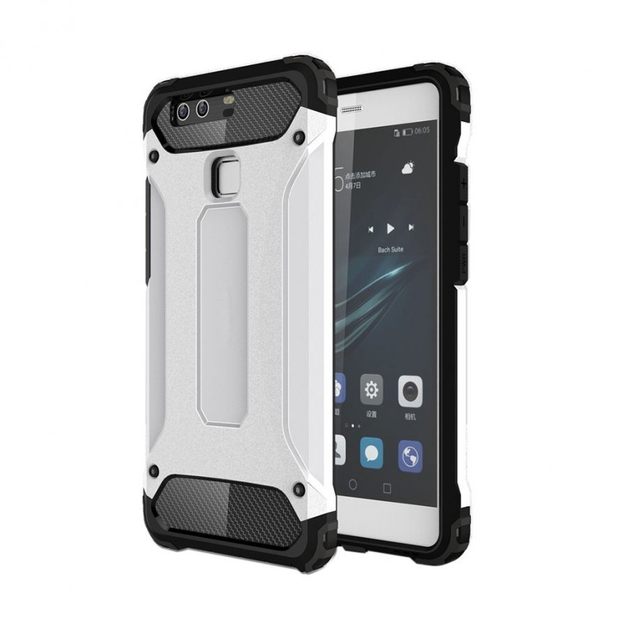 Frederik Panssari Pc + Tpu Suojakuori Huawei P9 Puhelimelle Valkoinen