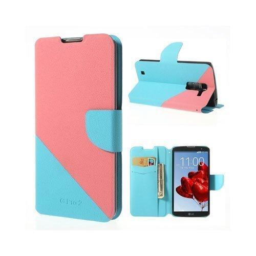 Freestyle Pinkki / Sininen Lg G Pro 2 Nahkakotelo