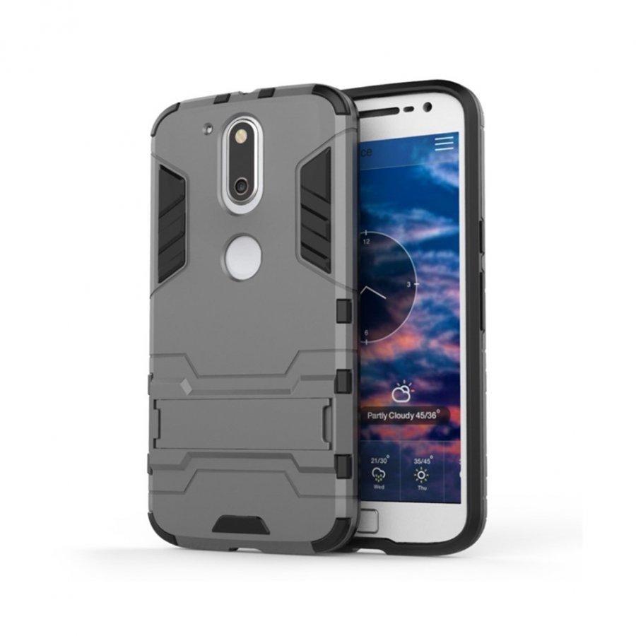 Freydis Motorola Moto G4 / G4 Plus Joustava Muovikuori Hopea