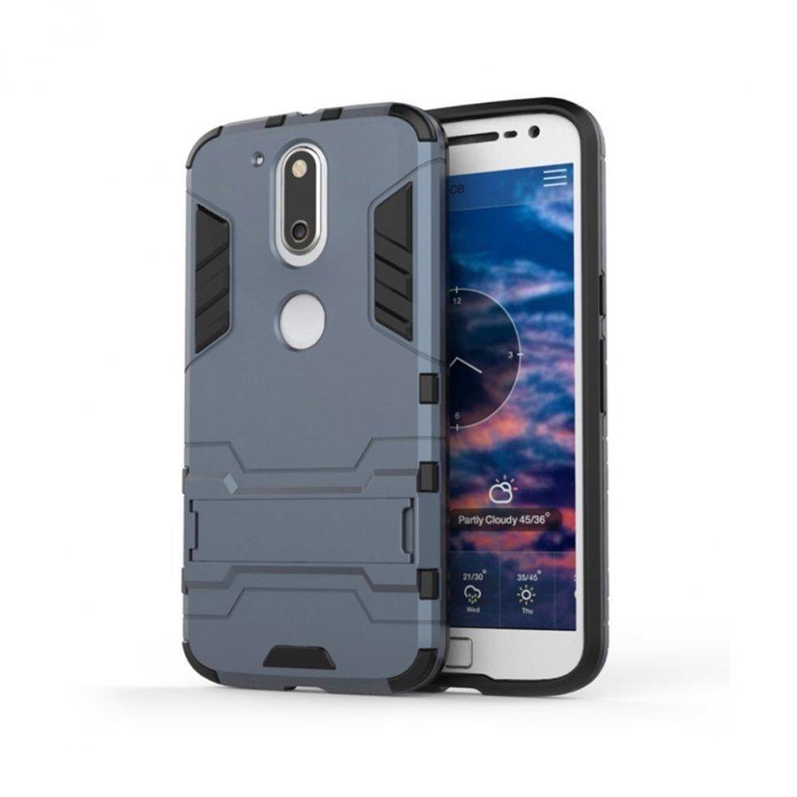 Freydis Motorola Moto G4 / G4 Plus Joustava Muovikuori Tummansininen