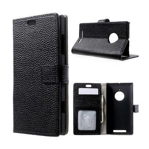 Fridell Musta Nokia Lumia 830 Aito Nahkakotelo