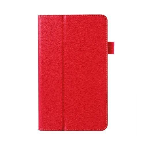 Gaarder Huawei Mediapad M1 Nahkakotelo Standillä Punainen