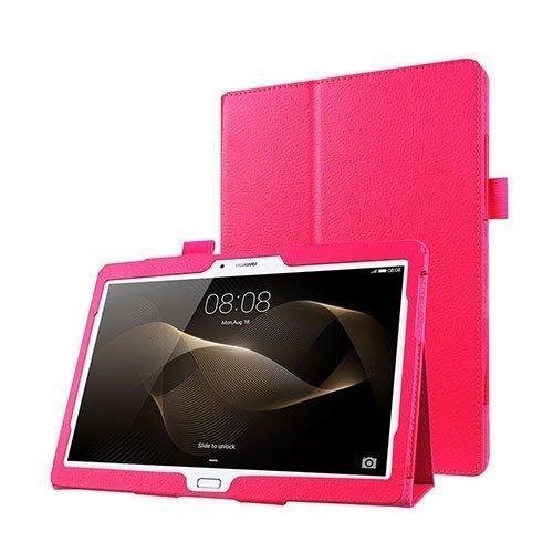 Gaarder Huawei Mediapad M2 10.0 Nahkakotelo Standillä Pinkki