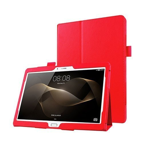 Gaarder Huawei Mediapad M2 10.0 Nahkakotelo Standillä Punainen