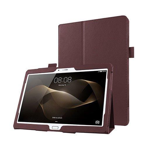 Gaarder Huawei Mediapad M2 10.0 Nahkakotelo Standillä Ruskea