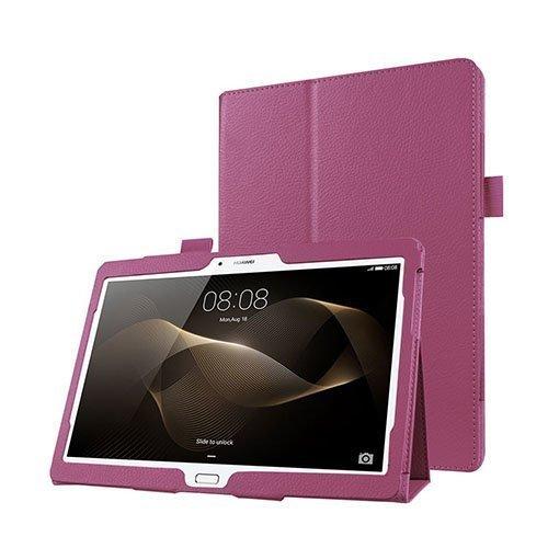 Gaarder Huawei Mediapad M2 10.0 Nahkakotelo Standillä Violetti