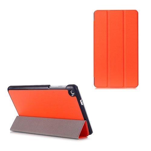 Gaarder Lines Huawei Mediapad M1 8.0 Nahkakotelo Läpällä Oranssi
