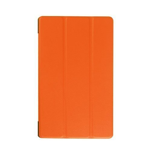 Gaarder Lines Lenovo Tab A A8-50 Nahkakotelo Standillä Oranssi