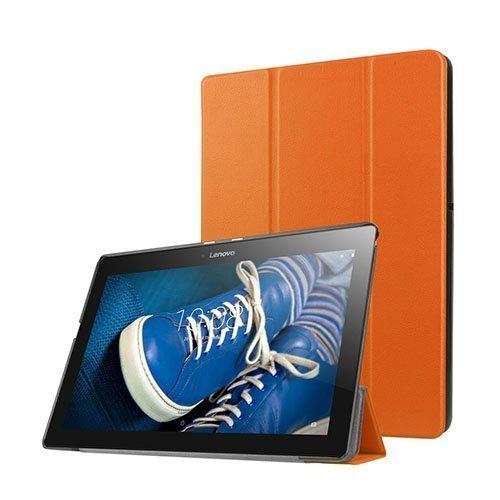 Gaarder Lines Lenovo Tab A10-30 Nahkakotelo Standillä Oranssi