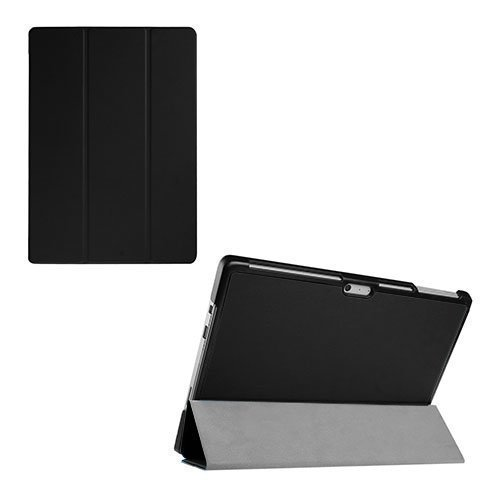 Gaarder Lines Microsoft Surface Pro 4 Kolmesti Taittuva Kotelo Standillä Musta