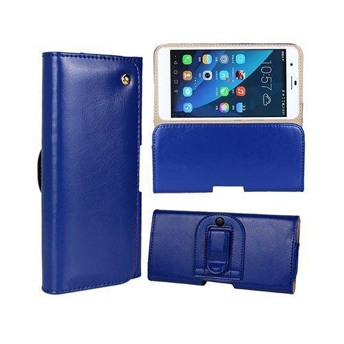 Gaarder Pouch Huawei Honor 6 Plus Vyökotelo Aitoa Nahkaa Tummansininen