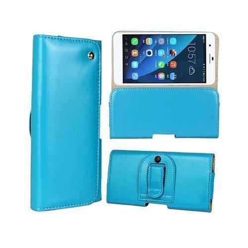 Gaarder Pouch Huawei Honor 6 Plus Vyökotelo Aitoa Nahkaa Vaaleansininen