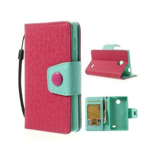 Gamma Kuuma Pinkki Nokia X Nahkakotelo