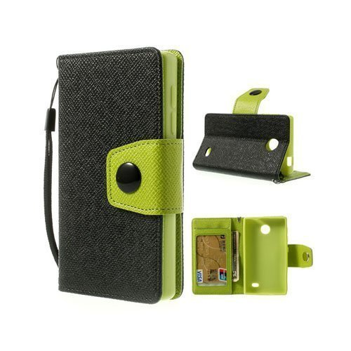 Gamma Musta Nokia X Nahkakotelo
