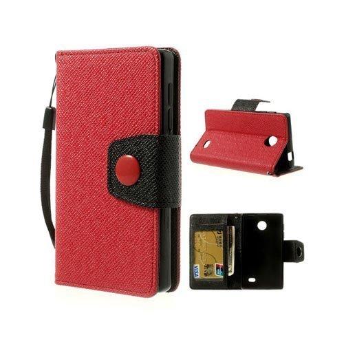 Gamma Punainen Nokia X Nahkakotelo