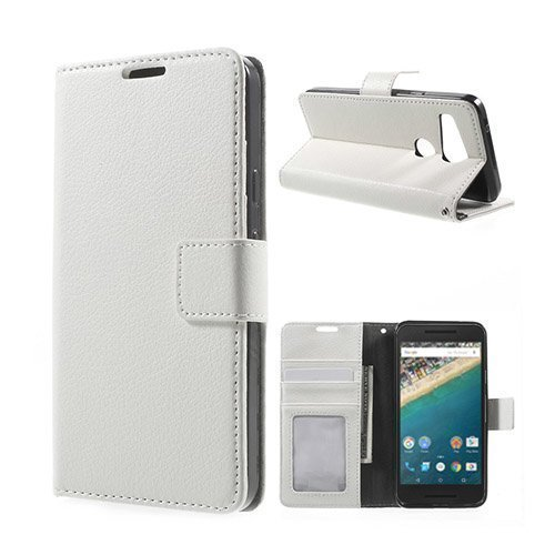 Garborg Google Nexus 5x Nahkakotelo Valkoinen