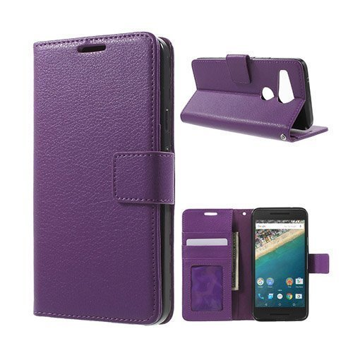 Garborg Google Nexus 5x Nahkakotelo Violetti