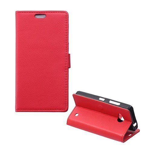 Garborg Microsoft Lumia 550 Nahkakotelo Punainen