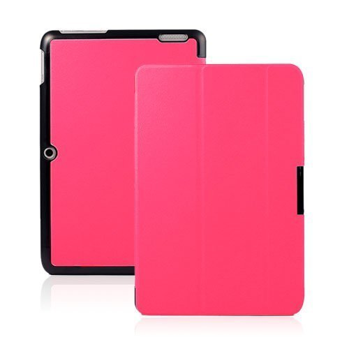 Garff Acer Iconia Tab 10 Taittuva Nahkakotelo Kuuma Pinkki