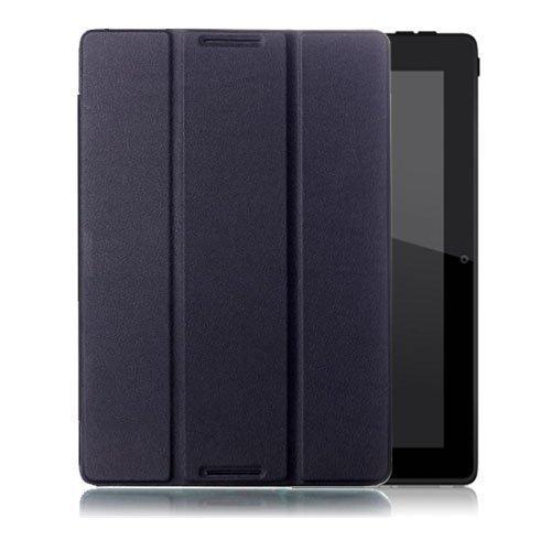 Garff Lenovo Ideatab A10-70 Leather Tri-Fold Case Black