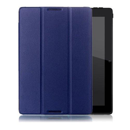Garff Lenovo Ideatab A10-70 Leather Tri-Fold Case Blue