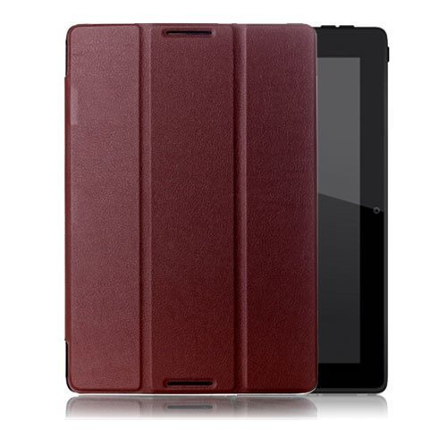 Garff Lenovo Ideatab A10-70 Leather Tri-Fold Case Brown