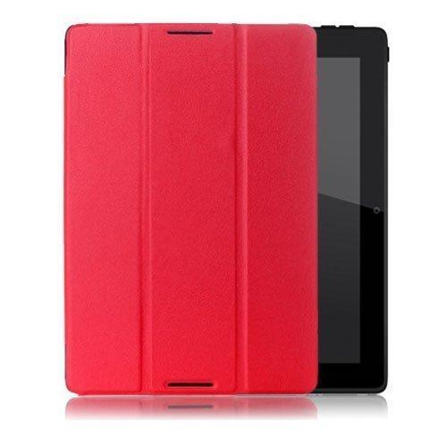 Garff Lenovo Ideatab A10-70 Leather Tri-Fold Case Red